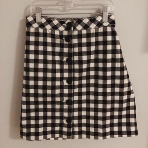 Divided Checkered Mini Skirt